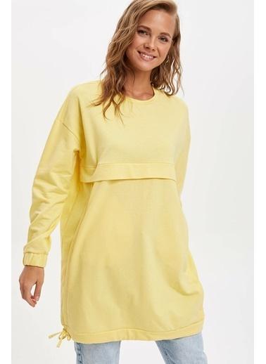 DeFacto Örme Tunik Sarı